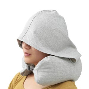 U Shape Travel Pillow with Hoodie
